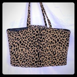 Custom Leopard print diaper bag-lots of pockets!